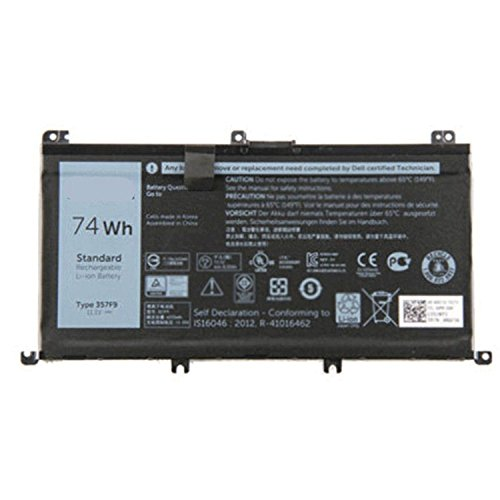 SUNNEAR 357F9 Battery for Dell Inspiron 15 7000 Series 7559 I7559 Gaming Laptop 357F9 74Wh 0GFJ6 357F9 71JF4