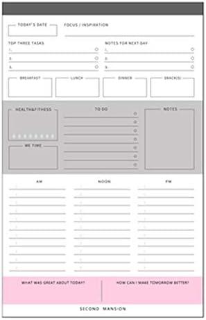 Tischkalender Kalendarien 60Sheets Kreative Tag Plan/Zeitplan/Weekly Desktop-Plan Buch-Protokoll Notizen zerreißbar Notizen Buch Zeitplan Papierware (Color : Design 2 as picture)