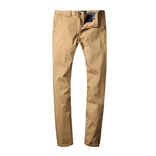 dao guan Men's Straight-Leg Casual Skinny Cotton Solid Color Autumn Pants