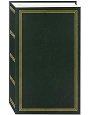 Álbum de fotos de 3 anéis com 504 bolsos para fotos 10 x 15 cm, verde caçador