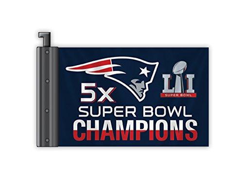 Fremont Die NFL New England Patriots Super Bowl 51 5X Champions Antenna Flag
