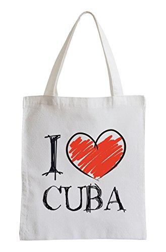 I love Cuba Fun Jutebeutel