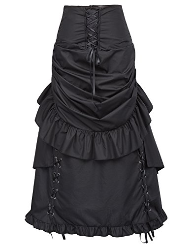 Gothic Steampunk Corset Skirt for Women Victorian Skirt with Zipper BP405-1 L
