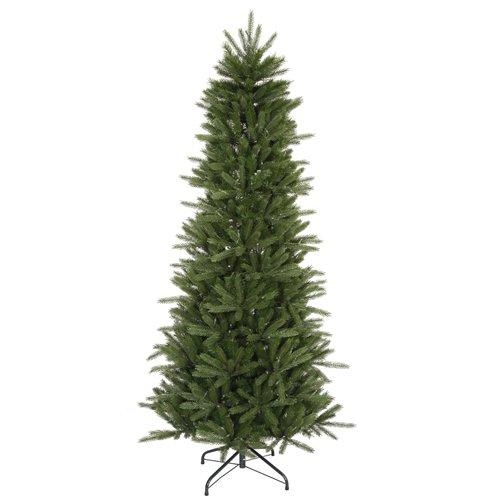 Slim Unlit Christmas Tree (Vickerman Unlit Slim Vermont Fir Instant Shape Artificial Christmas Tree, 4.5')