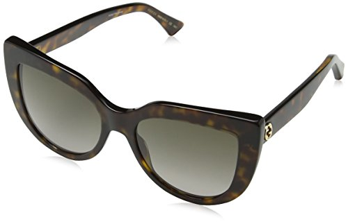 Gucci GG 0164 S- 002 HAVANA / BROWN Sunglasses ()