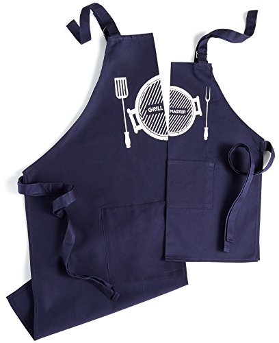 Celebrate Shop Daddy & Me Grilling Apron Set, Navy Blue ()