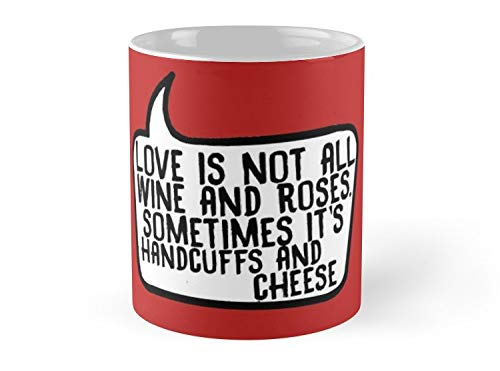 Blade South Mug Handcuffs and Cheese Mug - 11oz Mug - Features wraparound prints - Dishwasher safe - Best gift for family -