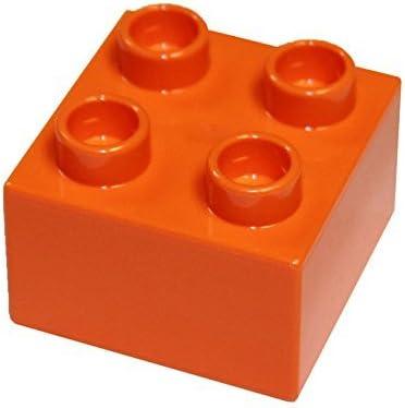 LEGO Parts and Pieces: DUPLO Orange (Bright Orange) 2x2 Brick x20