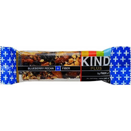 Kind Bar - Blueberry Pecan Plus Fiber - Case of 12 - 1.4 oz - Gluten Free - Dairy Free - Wheat Free - All Natural - Kind Blueberry Pecan