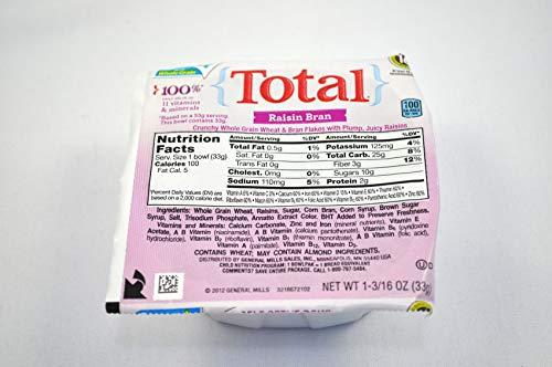 Total Whole Grain Cereal - General Mills Total Raisin Bran Cereal, Bowl Pak, 1.19 Ounce -- 96 per case.