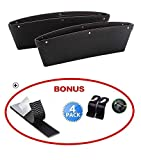 Car Seat Gap Filler & ipocket organizer -between the seats and console. Premium PU Leather Caddy for Automotive Interior Accessories - Side Seat Catcher