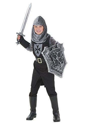 Fun Costumes Black Knight Costume Small (Knight Costume Kid)