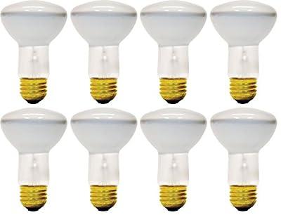 (Pack Of 8) 45R20/FL E26 Medium Base 45 Watt R20 320 Lumen Flood Light Bulb