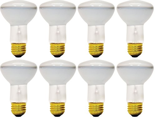 (Pack Of 8) 45R20/FL E26 Medium Base 45 Watt R20 320 Lumen Flood Light Bulb - R20 Reflector Floodlight Bulb