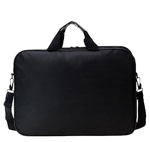 Messenger Bag For 15 Inch Laptop Computer Bag Macbook Shoulder Bag Business Backpack College Bookbag Travel Business Backpack Black Bag by FL Margaret (Image #1)'