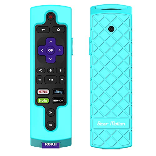 Bear Motion Case for Roku 2017 Remote Controller - Silicone Shock Resistant Cover for Ruko 2017 Remote Controller (Roku Ultra 2017, Green)