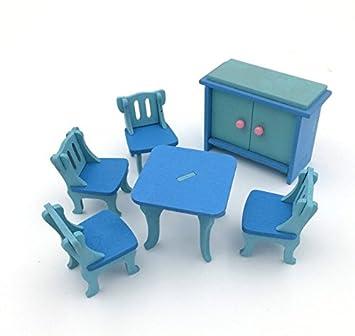 tfxwerws Creative Puppenhaus Miniatur Möbel aus Holz Esszimmer Set ... 04c4d4463b