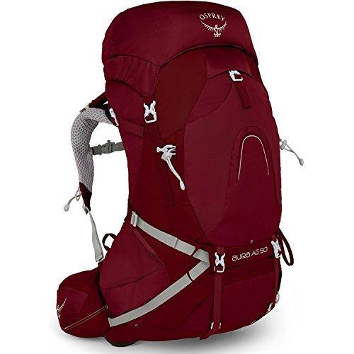 Osprey Aura AG 50 Womens Hiking Backpack Small Gamma Red [並行輸入品] B07DVRLBQ6