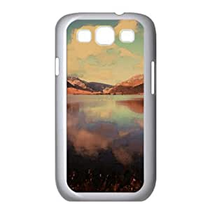 Calm Sunset Scenery Watercolor style Cover Samsung Galaxy S3 I9300 Case (Lakes Watercolor style Cover Samsung Galaxy S3 I9300 Case)