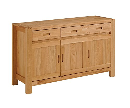 Parisot 0603E3PT Ethan Solid Oak Sideboard with 3 Doors and 3 Drawers by Parisot