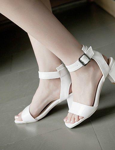 extérieur blanc argent talons pour Chaussures blanc or sandales toe 789 ShangYi talons décontractée tenue peep femmes xgxwPa8q