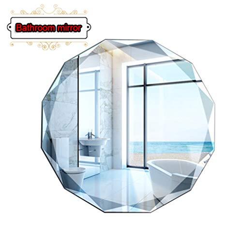 MIRROR-1 Mirrors, Classic Diamond Cut Oval/Round Bathroom Mirror ,Frameless -Decorative Mirror for -