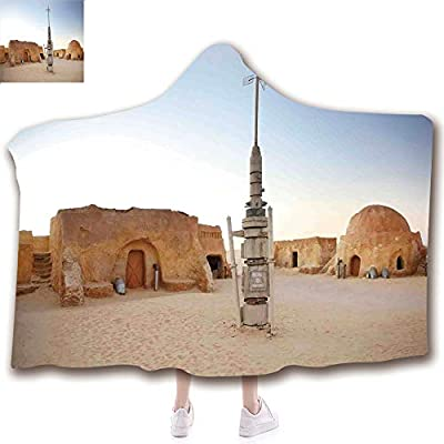 Fashion Blanket Ancient China Decorations Blanket Wearable Hooded Blanket,Unisex Swaddle Blankets for Babies Newborn by,Set Town of Fantasy Planet Out of Space Galaxy,Adult Style Children Style