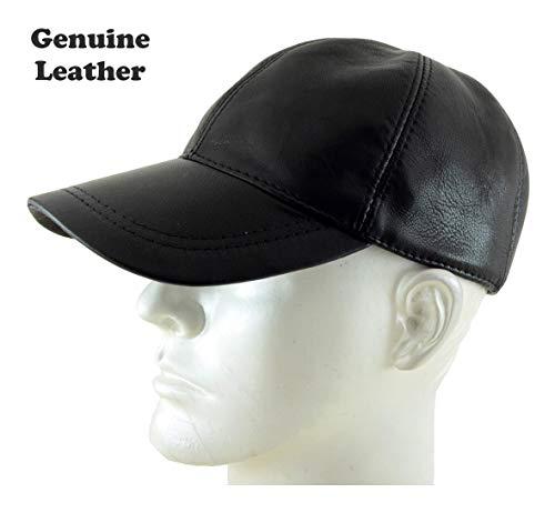 Adjustable Genuine Leather Baseball Cap, ()