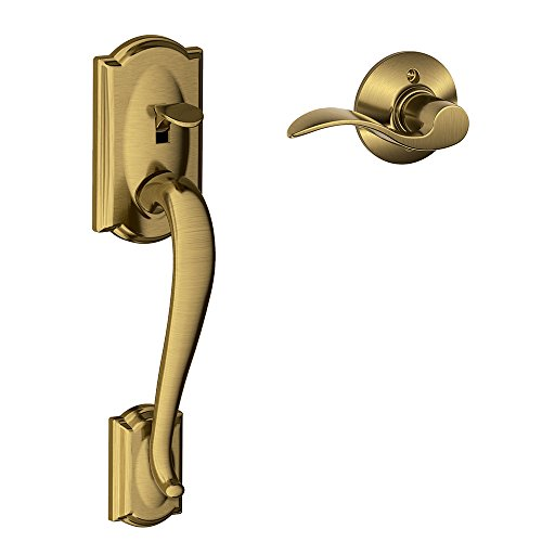 Camelot Front Entry Handle Accent Right-Handed Interior Lever (Antique Brass) FE285 CAM 609 ACC RH