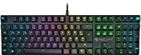 Roccat Suora FX RGB Illuminated rahmenlose mechanische Gaming Tastatur (DE-Layout, RGB Tastenbeleuchtung, rahmenlos)