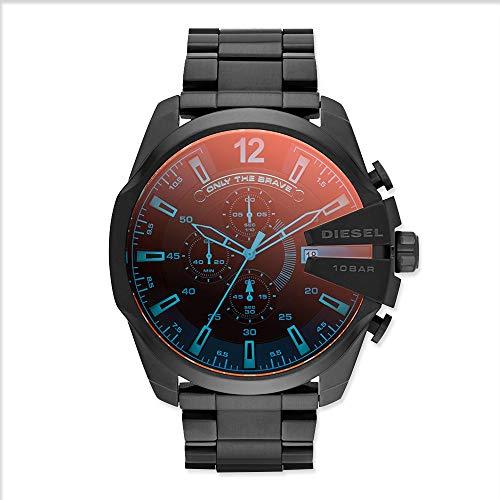 - Diesel Men's Mega Chief Quartz Stainless Steel Chronograph Watch, Color: Black (Model: DZ4318)