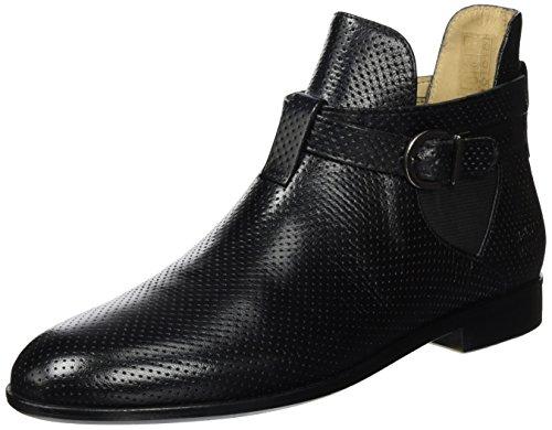 Melvin & Hamilton WoMen Susan 36 Chelsea Boots, 3.5 Black (Venice Perfo M&h Black Ela. Black, Ls Black Venice Perfo M&h Black Ela. Black, Ls Black)