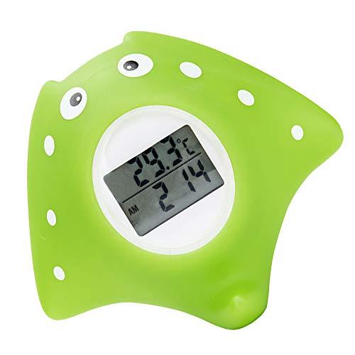 Termómetro de baño para bebés, termómetro digital para temperatura del agua del baño, con alarma de advertencia LED, estrella de mar