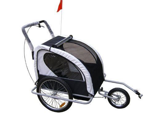 Aosom Elite 2 in 1 Double Child Bike Trailer/Jogger