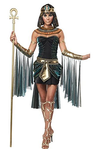 Lumiere Costumes (Nynoi Egypt Womens Costume Egyptian Goddess Costume Queen Sexy Deluxe Ladies)