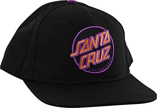 Santa Cruz Other DOT Snapback HAT ADJ-BLK W/Pink/Purple