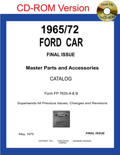 1965/72 Ford Car Master Parts and Accessories Catalog