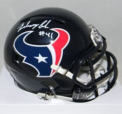 Amazon.com  Zach Cunningham Signed Houston Texans Speed Mini Helmet ... 13aa2fd62