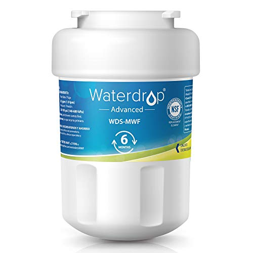 Waterdrop NSF 53&42 Certified MWF Replacement Refrigerator Water Filter, Compatible with GE MWF, MWFP, MWFA, GWF, GWFA, SmartWater, Kenmore 9991, 46-9991, 469991, Advanced by Waterdrop