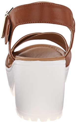 Call It Spring Womens UNIGODIEN Platform Sandal Cognac 5G4meVX5Tw