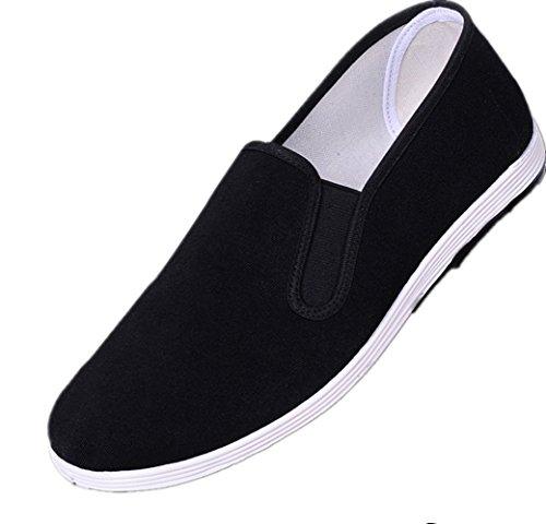 Sibba Slipper, KungFu/TaiChi/Tsun Schuhe mit Stoffsohle und verdickter Gummisohle für Damen und Herren