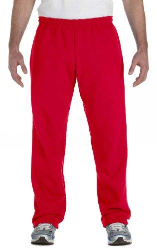 Gildan G184 Heavy Blend™ 8 oz., 50/50 Open-Bottom Sweatpants - RED - (Polyester 8 Ounce Sweatpants)