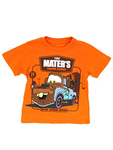 Disney Cars Toddler Short Sleeve Tee (3T, Orange Tow Mater - Manufacturers Car Diecast