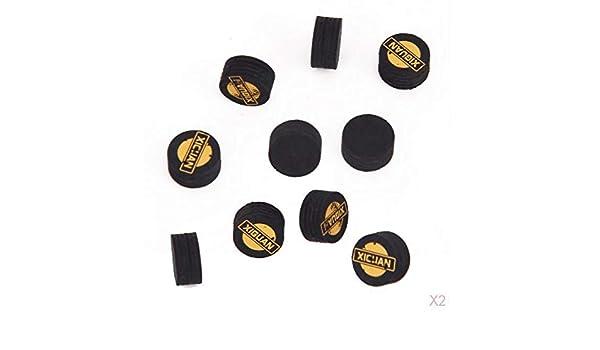 perfeclan 10pcs 14mm Negro 5 Capas De Cuero Billar Billar Consejos ...