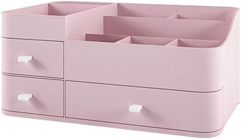 Hzb821zhup - Caja de Almacenamiento para cosméticos con cajón Grande para pintalabios y cosméticos, Gran Capacidad, Organizador de Maquillaje, cajón de Almacenamiento, Rosa, Talla única: Amazon.es: Hogar