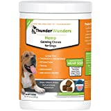 ThunderWunders Hemp Dog Calming Chews - Anxiety Supplement with Hemp Seed and Oil, Thiamine, L-Tryptophan, Melatonin and Ginger - Relieve Stress from Separation, Storms, Fireworks & Travel (60 Count)