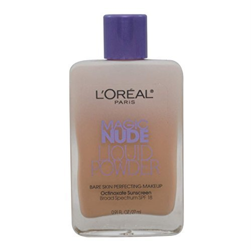 - L'oreal Paris Magic Nude Liquid Powder Bare Skin Perfecting Makeup SPF 18, Natural Buff, 0.91 Ounces (3 Pack)