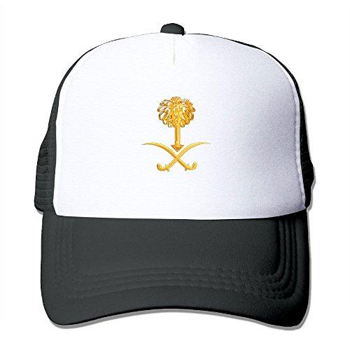 PJ090KA Custom Particular Unisex Coat Of Arms Of Saudi Arabia Fishing Caps Hat Black (Saudi Arabia Arms)