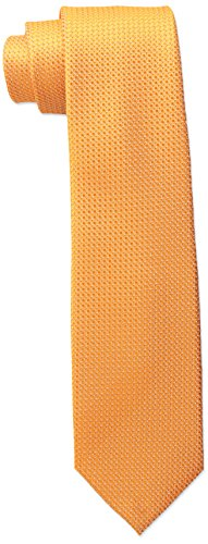 Wembley Big Boys Standard Solid Tie, Orange, One Size