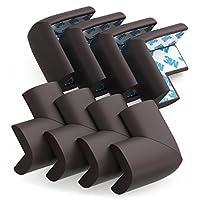 Protecciones de esquinas y protectores de bordes Soft Baby Proofing - cinta 3M aplicada previamente, 8 PAQUETES